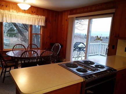 Brewster Cape Cod vacation rental - Kitchen - dining room opens thru sliders to the deck & grill