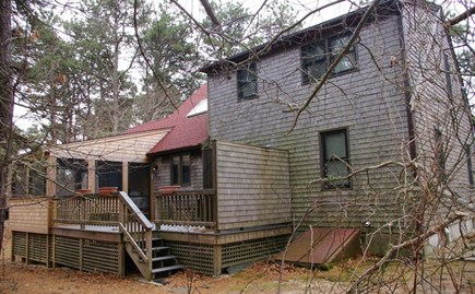 Eastham Cape Cod vacation rental - Backyard with screened porch and outside shower.
