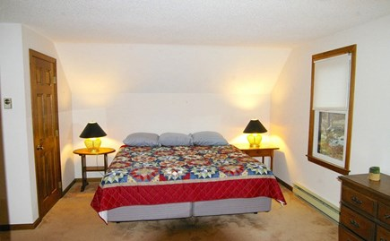 Eastham Cape Cod vacation rental - Master bedroom upstairs with it's own bath
