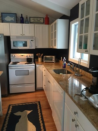 East Dennis Sesuit Neck Cape Cod vacation rental - Kitchen area -  granite counters fully equipped