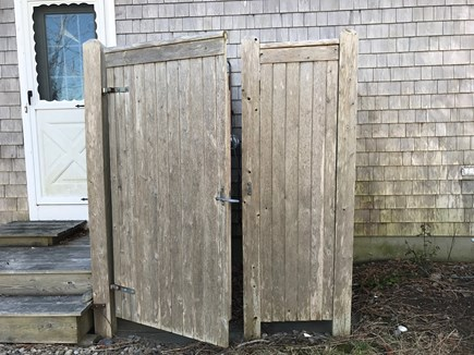 Eastham Cape Cod vacation rental - Outdoor shower at rear of house