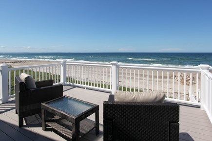 Sandwich Cape Cod vacation rental - View from Master Bedroom Deck with Two Deck Chairs and Table