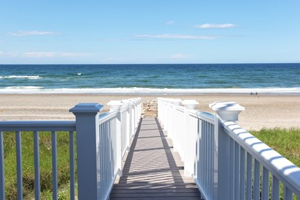 Sandwich Cape Cod vacation rental - Walkway to Beach off Back Deck