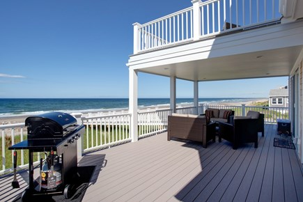 Sandwich Cape Cod vacation rental - Back Decks with Furniture and Grill