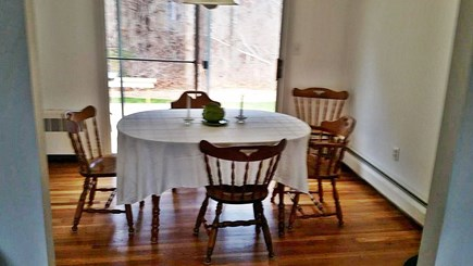 FALMOUTH  Cape Cod vacation rental - Dining room with sliders to huge deck