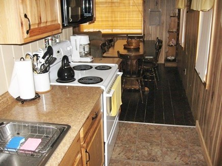 Dennis Port Cape Cod vacation rental - Galley Kitchen with Family room dining area