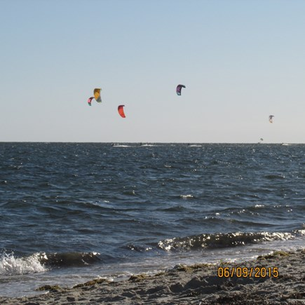 West Dennis Cape Cod vacation rental - Parasailing at West Dennis Beach