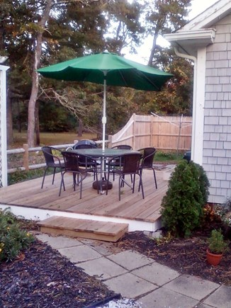 West Dennis Cape Cod vacation rental - Private Back Deck