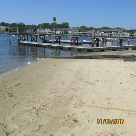 West Dennis Cape Cod vacation rental - Pier and Beach on Bass River steps away from house