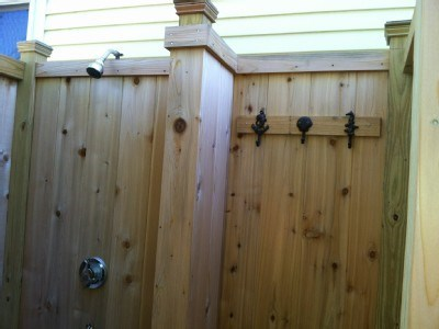 West Yarmouth Cape Cod vacation rental - Outdoor Shower with changing area