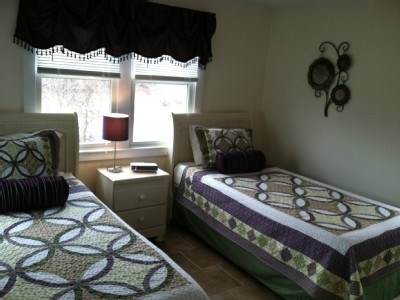 West Yarmouth Cape Cod vacation rental - Bedroom 1 has 2 extra long twin beds with memory foam matress