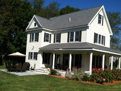 West Yarmouth Cape Cod vacation rental - Full view of house with wrap around porch, deck & great yard