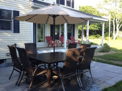 West Yarmouth Cape Cod vacation rental - Outdoor patio with grill and seating for 8
