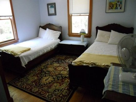 Wellfleet; less than a mile to Cape Cod vacation rental - Twin Bedroom has window A/C