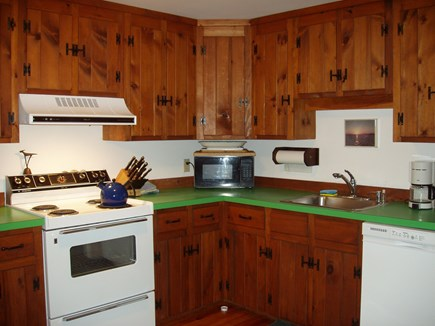 Wellfleet; less than a mile to Cape Cod vacation rental - Eat in kitchen equipped with dishwasher, fridge ice maker, micro.