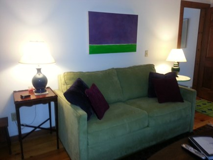 Wellfleet; less than a mile to Cape Cod vacation rental - Den with queen pullout w/foam mattress couch - Super Comfortable!