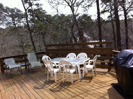 Wellfleet; less than a mile to Cape Cod vacation rental - Deck for dining al fresco - propane gas grille and lounge chairs