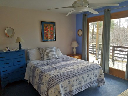 Wellfleet Cape Cod vacation rental - Second Bedroom with queen & twin; private bath & deck