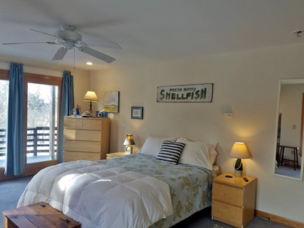 Wellfleet Cape Cod vacation rental - Master Bedroom; queen size bed and private deck