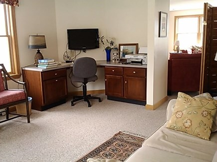 Wellfleet Cape Cod vacation rental - Den with Pull out queen bed, built in work desk and flat screen