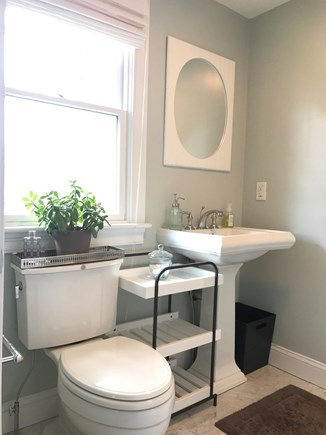 Mashpee Cape Cod vacation rental - Master bathroom with glas shower