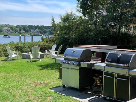 Mashpee Cape Cod vacation rental - Grilling with a view