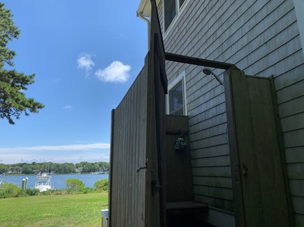 Mashpee Cape Cod vacation rental - Outdoor shower to wash off the sand and enjoy the view!
