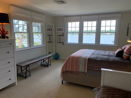 Mashpee Cape Cod vacation rental - Guest bedroom- queen bed & king pull out w/ ocean views