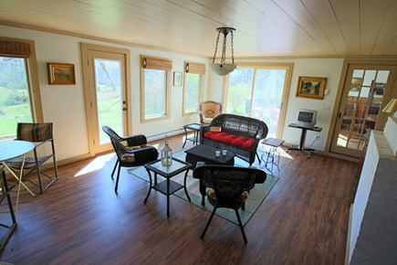 West Harwich Cape Cod vacation rental - Alternate view of Porch shows space & light