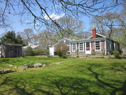 West Harwich Cape Cod vacation rental - Rear view showing great yard area