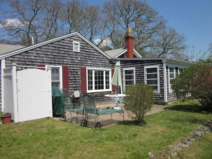 West Harwich Cape Cod vacation rental - Alternate view shows patio & outdoor shower
