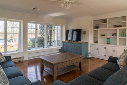 Chatham Cape Cod vacation rental - Family room with water views of Ryder's Cove