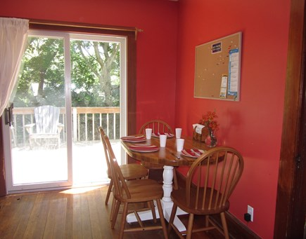Woods Hole Woods Hole vacation rental - Breakfast room between kitchen and deck