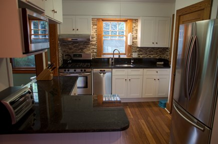 Woods Hole Woods Hole vacation rental - Kitchen with gas stove, dishwasher, and everything you need