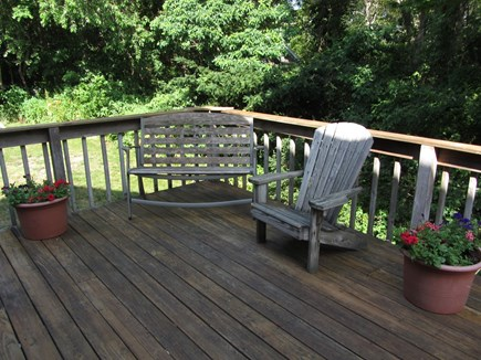 Woods Hole Woods Hole vacation rental - Deck with picnic table and hammock (sorry those aren't pictured)
