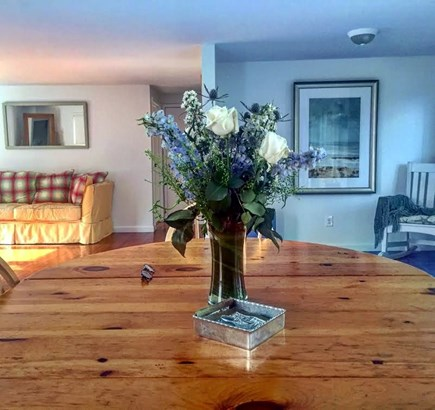 Harwich Port Cape Cod vacation rental - From the kitchen table in the evening