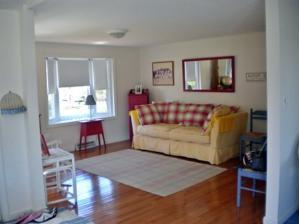 Harwich Port Cape Cod vacation rental - The yellow living room