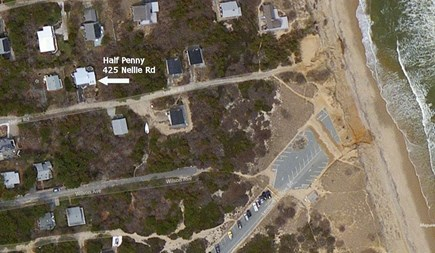Wellfleet Cape Cod vacation rental - Satellite view of Half Penny's location