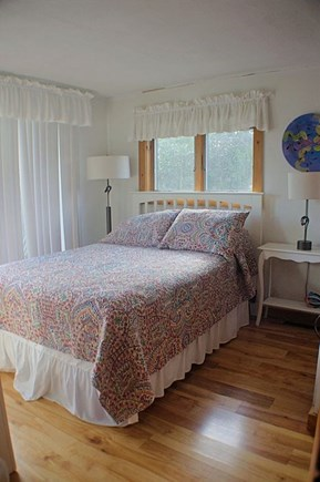 Wellfleet Cape Cod vacation rental - Third Bedroom with 1 double bed and slider to front deck