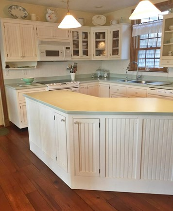 Falmouth, Waquoit Bay Cape Cod vacation rental - Open Kitchen with Large Prep Island