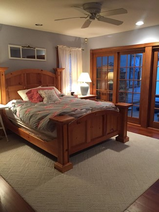 Falmouth, Waquoit Bay Cape Cod vacation rental - Master Bedroom with Yoga Room overlooking Moonakiss Inlet