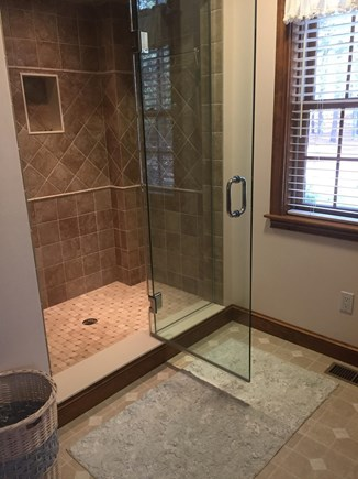 Falmouth, Waquoit Bay Cape Cod vacation rental - Master Bath with Spa Shower