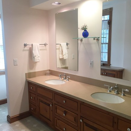 Falmouth, Waquoit Bay Cape Cod vacation rental - Master Bath with Double Sink