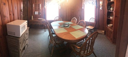 Dennisport Cape Cod vacation rental - Large dining room ready for family dinners and game night!