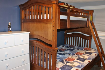 Dennis Port Cape Cod vacation rental - Bedroom downstairs with twin over full bunk bed