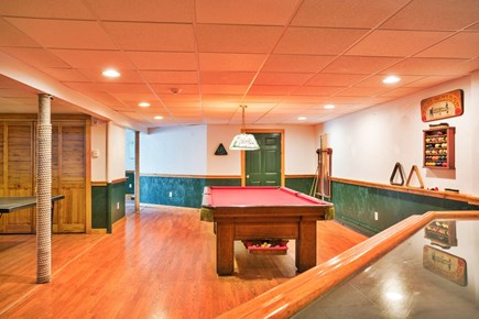 East Dennis/Brewster line Cape Cod vacation rental - Full basement game/recreation room with pool table and ping pong