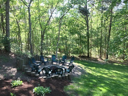 East Dennis/Brewster line Cape Cod vacation rental - Backyard fire pit