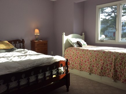 Brewster Cape Cod vacation rental - 2nd Bedroom with full size bed, single bed, and central A/C