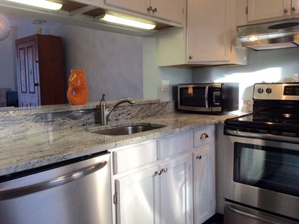 Brewster Cape Cod vacation rental - Kitchen with new granite counters and all new appliances