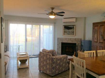 Brewster Cape Cod vacation rental - Living Area with sliders leading out to patio area